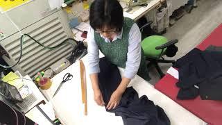 케주얼 신사바지 통줄이기 재단  재봉 다림질 완성하기1