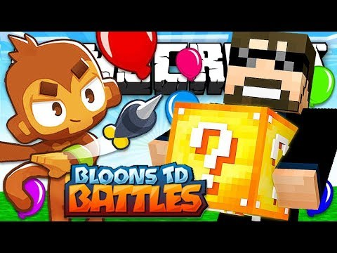 BLOONS TD *LUCKY BLOCKS* CHALLENGE in Minecraft!
