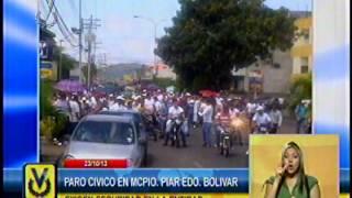 Habitantes del municipio Piar en Bolívar paralizaron sus actividades para exigir seguridad