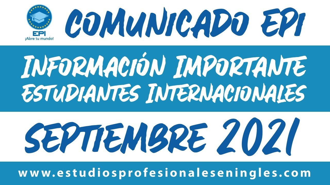 Comunicado COVID-19 Irlanda / Información Importante Estudiantes Internacionales / Septiembre 2021