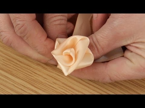 How To Make A Ribbon Rose | Craft Techniques