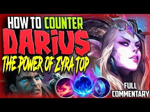 HOW TO COUNTER DARIUS | THE POWER OF ZYRA TOP LANE | Zyra Vs Darius TOP Build S8 PBE Gameplay