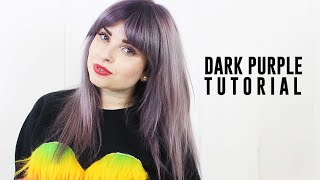 Dark Purple Hair Tutorial