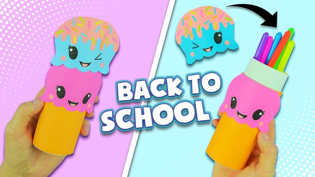 Astuccio con materiale riciclato fai da te | How to make Kawaii Pencil Case | Back to School