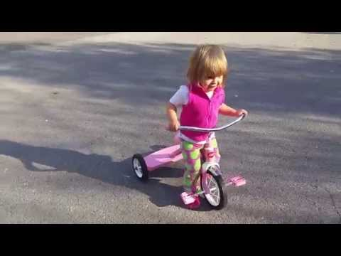 Enjoying My Pink Radio Flyer Tricycle