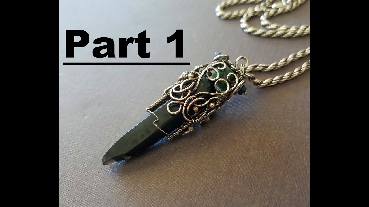 Wire Wrapping Time Lapse Tutorial - Obsidian Part 1 - YouTube