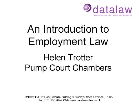 An Introduction to Employment Law