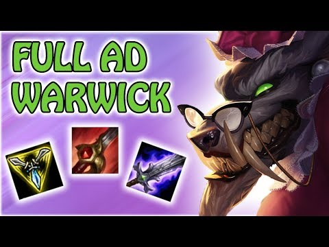 FULL AD WARWICK - Day1 Full gameplay - EuW Master SoloQ