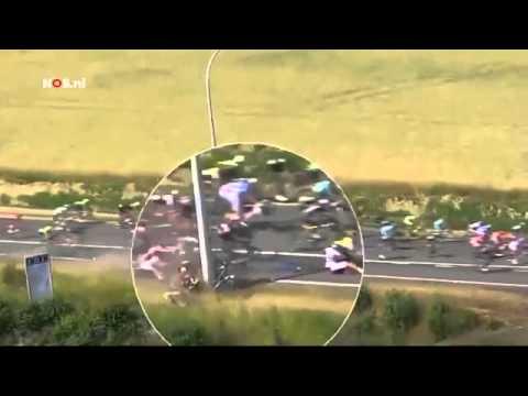 Tour de France Stage 3 Massive Crash takes 20 Riders down