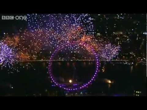 London Fireworks on New Year's Day 2010 - New Year Live - BBC One