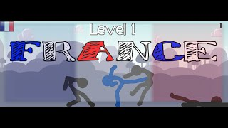 ★ FRANCE (Level 1) - Nations in Sticks • Pivot Animation