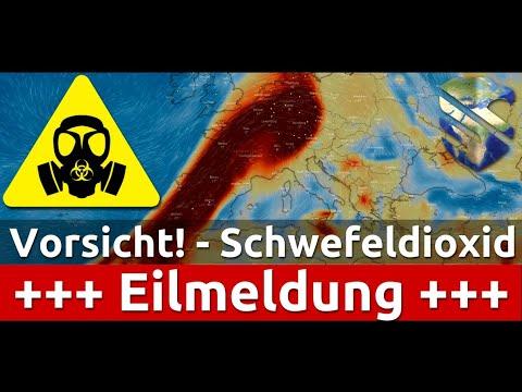 Download Vorsicht! Schwefeldioxid Wolke am 19.10.2021 über Deutschland