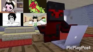 Malk bendy vs loud house vs slender man vs ROBLOX vs Minecraft