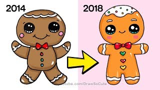 How to Draw a Gingerbread Man Easy | NEW