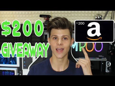 $200 AMAZON GIFT CARD GIVEAWAY!!!!!