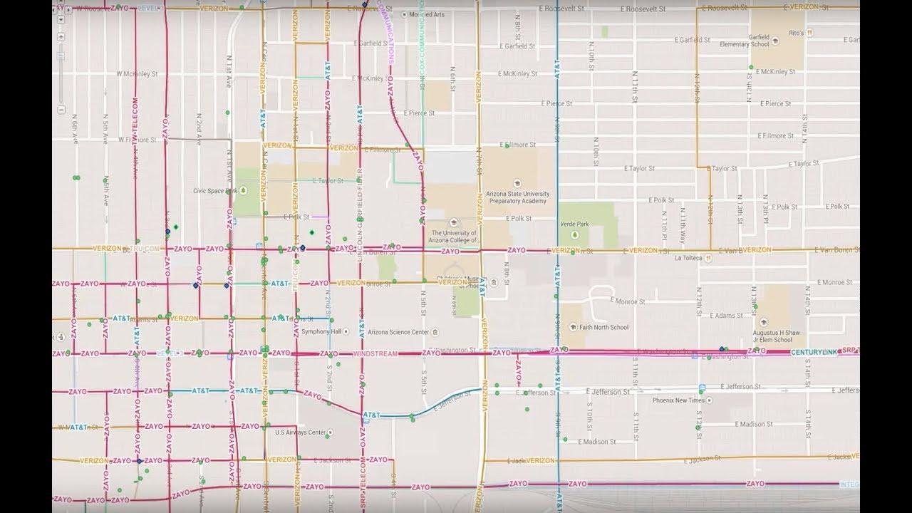 Fiber Maps - GeoTel Communications | Fiber Routes | GIS