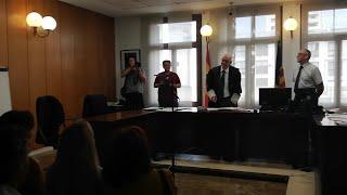 Despedida al juez Eduardo Calderón