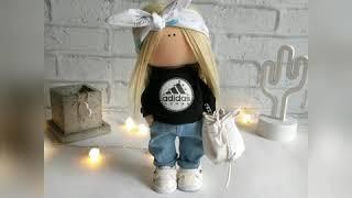 Интерьерная кукла Модница и Крутышка. Видеообзор мастер класс по интерьерной кукле
