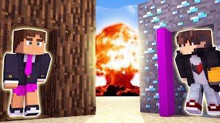Minecraft: DESAFIO DA BASE 100% SEGURA CONTRA BOMBA NUCLEAR ( QUEBROU A BEDROCK )‹ JUAUM ›
