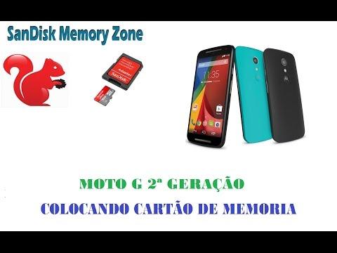 Moto G 2ª Geração Colocando cartão de memória + aplicativo para gerenciamento de memoria