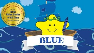 COLORS: BLUE Azul Bleu ★ English French Spanish ★ Best Early Learning Videos & Songs for Kids