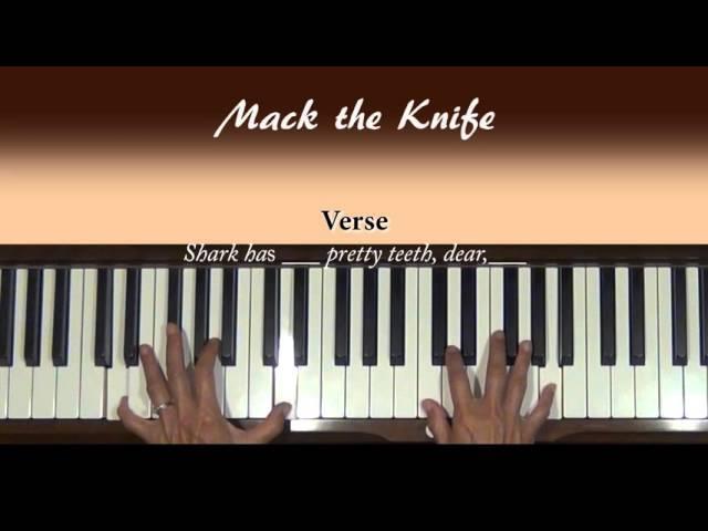 Mack The Knife Piano Tutorial Chords Chordify