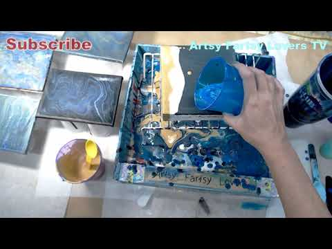 Easy How Paint Pour With Recipe For Paint Pouring DIY Perfect Sea Beach House Painting Stacy Nicolle