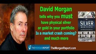 David Morgan on why you MUST own silver or gold, silver shortage, market crash 2017, GLD & SLV