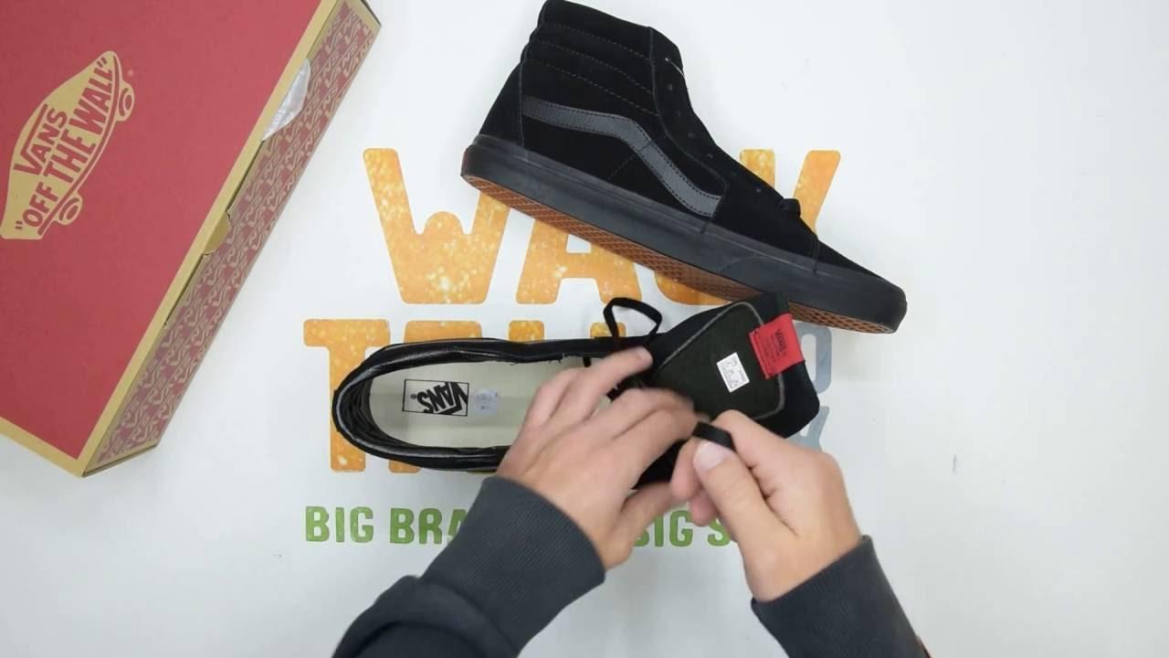 Vans SK8-Hi Suede - Black  Black - Unboxing  c9bda899405
