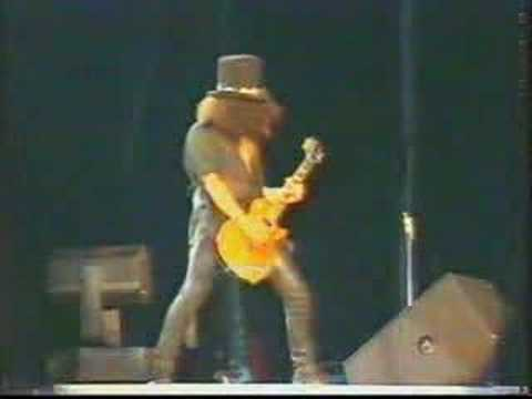 Slash  Solo - Godfather Theme  - Guns N' Roses Live in Paris