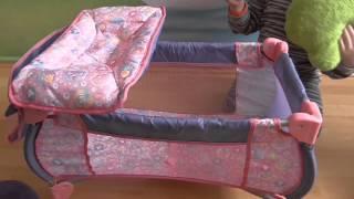 Ліжечко 2 в 1 для ляльки Бебі борн з пеленальним столиком BABY BORN bed