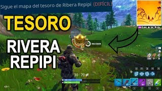 Sigue el Mapa del Tesoro de Ribera Repipi ✔ Desafío Fortnite Battle Royale