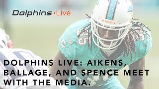 Walt Aikens, Kalen Ballage & Akeem Spence Meet w/ the Media | Dolphins Live