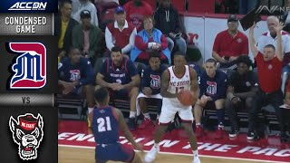 Detroit Mercy vs. NC State Condensed Game | 2019-20 ACC Men's Basketball