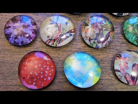 CRAFT TIME - Easy DIY Glass Pendants using Dollar Tree Flat Marbles