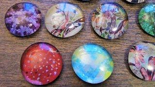 CRAFT TIME - Easy DIY Glass Pendants using Dollar Tree Flat Marbles