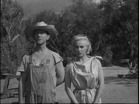 """Donald O'Connor and Mamie Van Doren in a scene from """"Francis Joins the WACS """""""