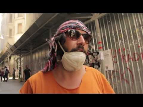 Taksim Gezi Park - Interviews with Turkish Demonstrators - Pepper Gas Attacks on Istiklal Street