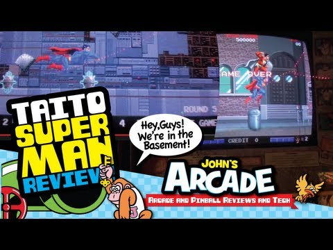 1988 Taito Superman Arcade Game Gameplay Completion Review - MAN OF STEEL!