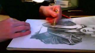speed drawing Lady gaga ( latvian )