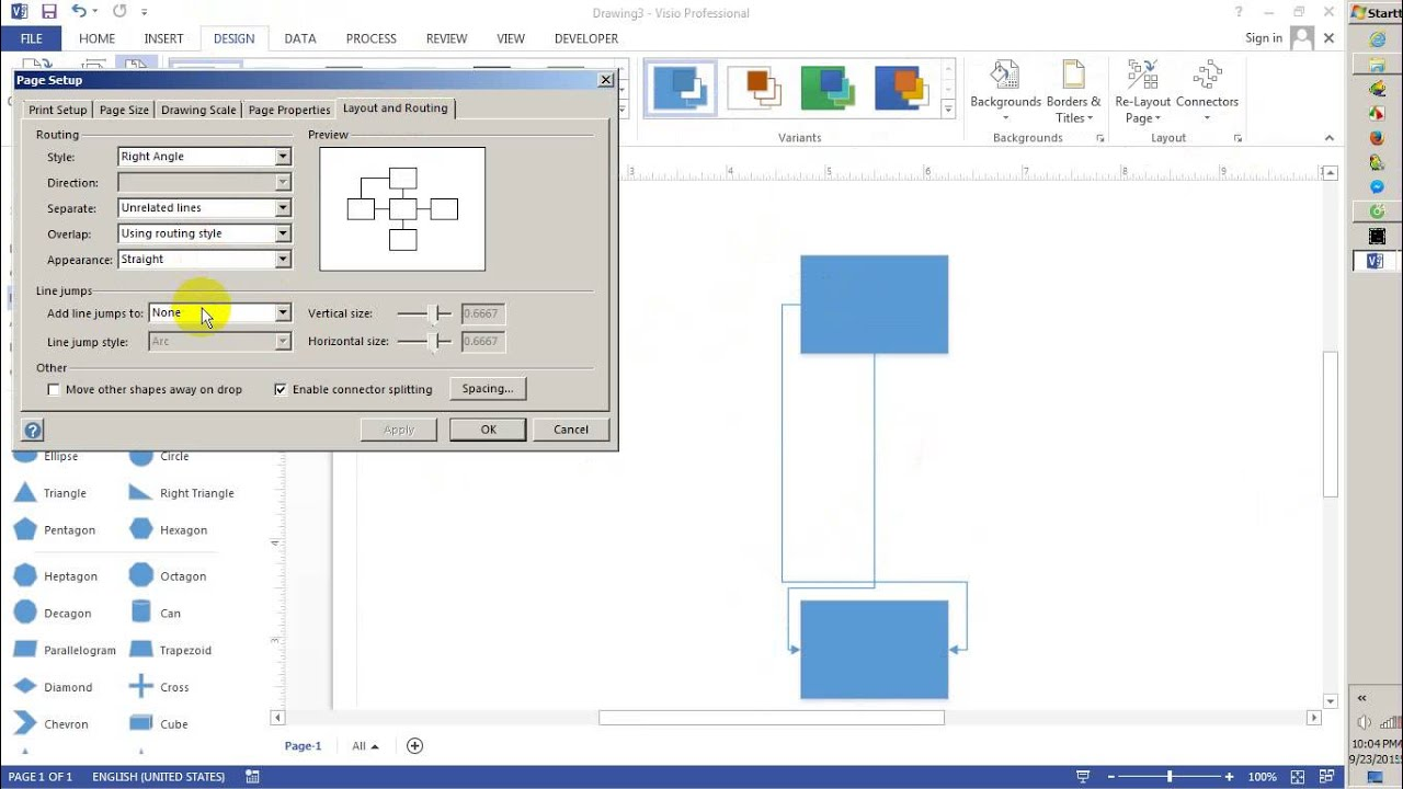 Drawing Lines In Visio : Jump line in visio youtube