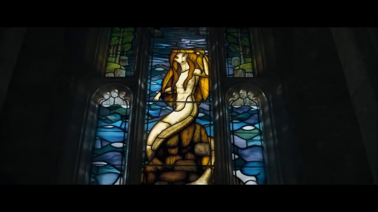Stained Glass Mermaid From The Movie Harry Potter Youtube