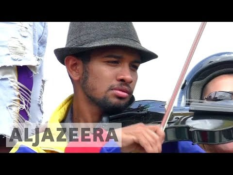 Venezuelan violinist detained over anti-Maduro protests