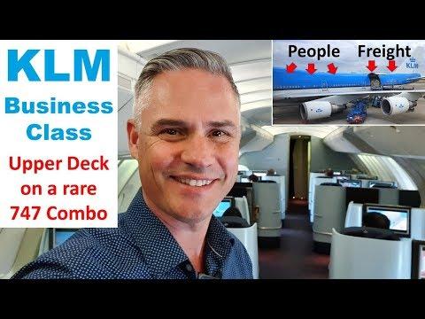 KLM: Upper Deck Business Class On A Rare 747 Combi