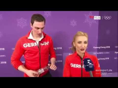 Beautiful Interview Pairs Figure Skating 2018 - SAVCHENKO/MASSOT   15.02.2018