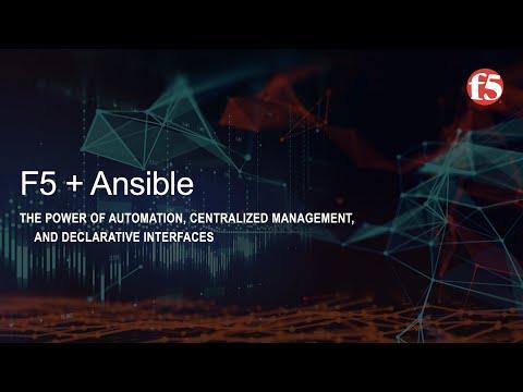 F5 BIG-IQ, BIG-IP And Ansible Automation