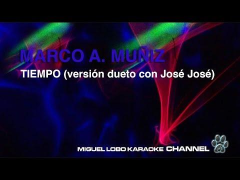 MARCO ANTONIO MUÑIZ (con José José) - TIEMPO - Karaoke Channel Miguel Lobo