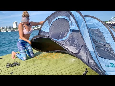 Ocean Camping And SEA-DOO Tournament Fishing | Peanut Island Florida