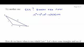 234 TrigH 8 3 Law of Cosines