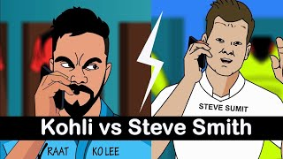 Virat kohli vs Steve Smith ft. Dhoni & Rohit Sharma